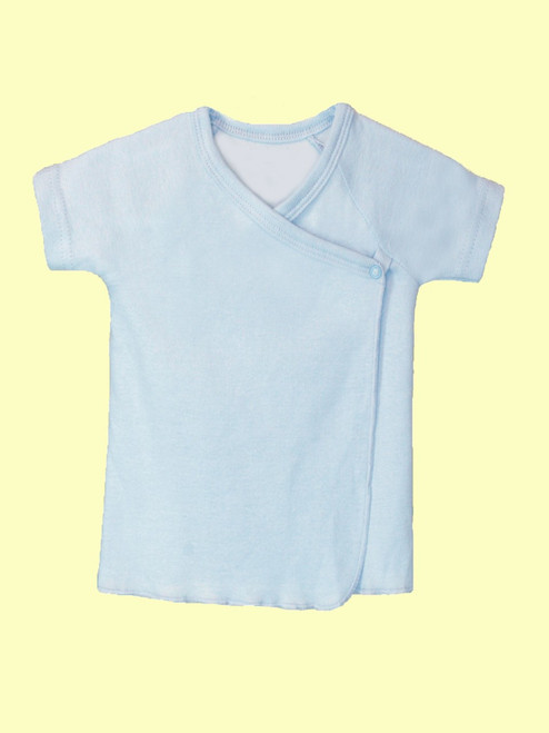 Baby Boy Short Sleeve Undershirt - Organic Cotton