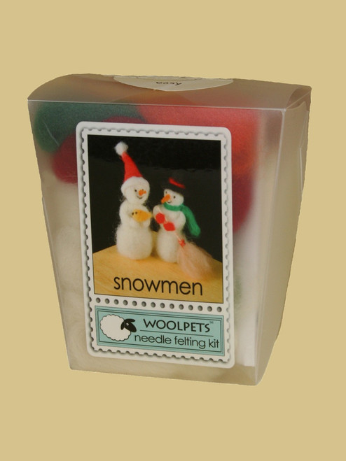 Snowman Wool Needle Felting Kit