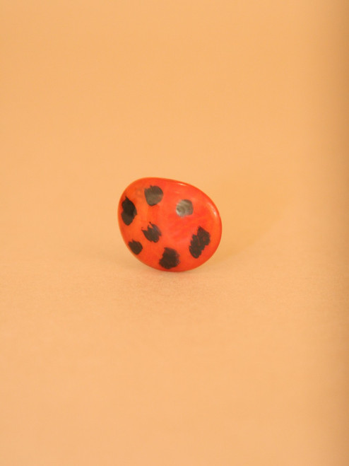 Lady Bug Tagua Ring