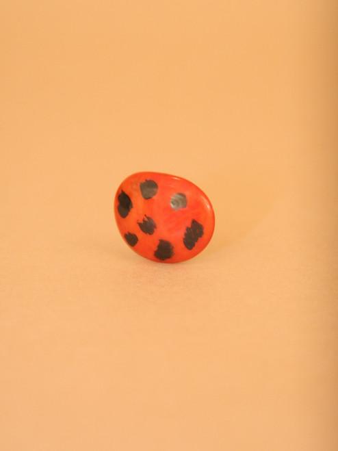 Lady Bug Tagua Ring