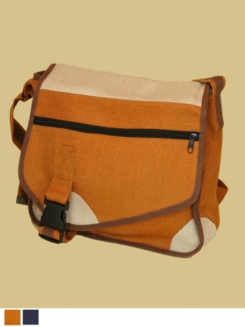 The Hitchhiker Messenger Bag - 100% Hemp