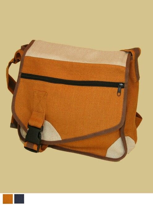 The Hitchhiker Messenger Bag - 100% Hemp