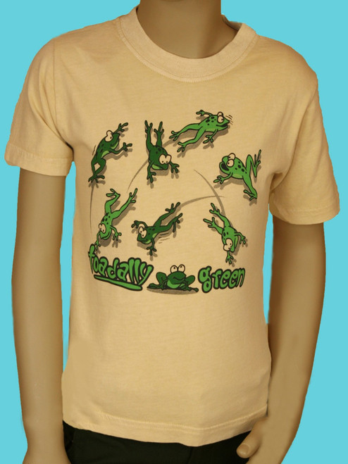 Toadally Green Tee - 100% Organic Cotton