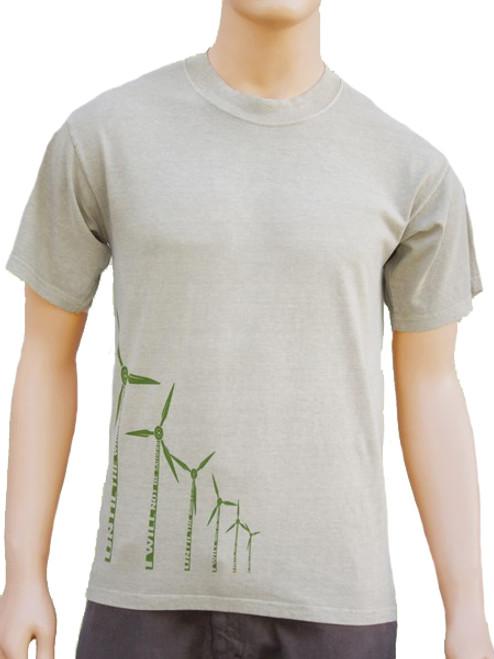 Wind Power on Organic Cotton Tee - Fair Trade