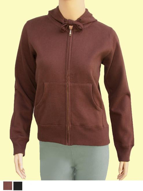 Women's Zip Hoody- 80% Organic Cotton