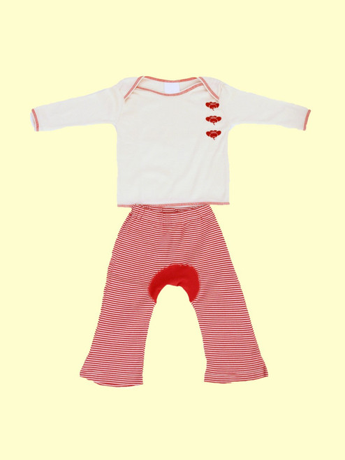 Zen Plum Shirt with Monkey Pants - Organic Cotton