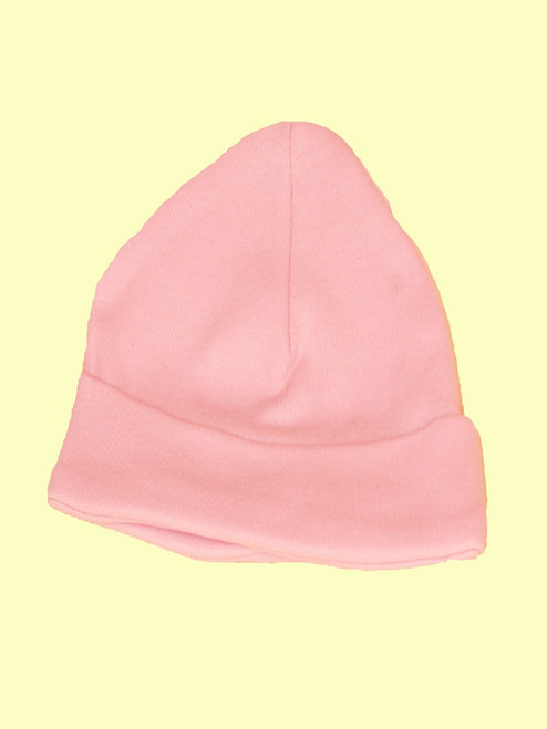 Baby Girl Pink Scull Hat - Certified 100% organic cotton
