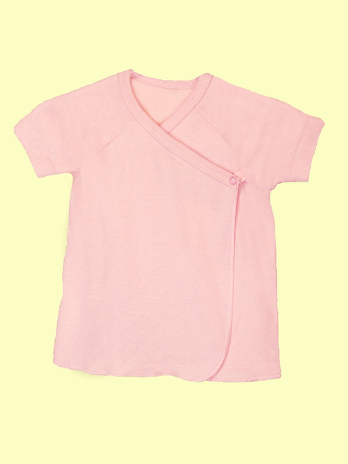 Baby Girl Short Sleeve Undershirt - Organic Cotton