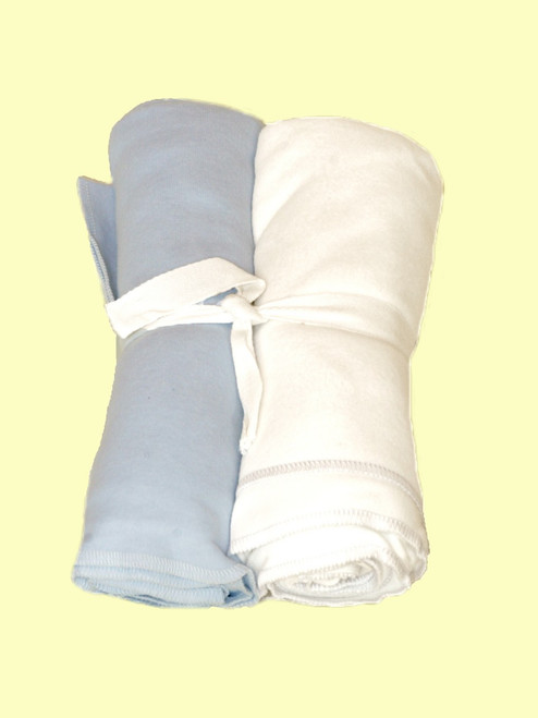 Ice Blue Swaddle Blanket - Certified Organic Cotton
