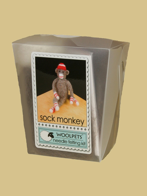 Sockmonkey Wool Needle Felting Kit