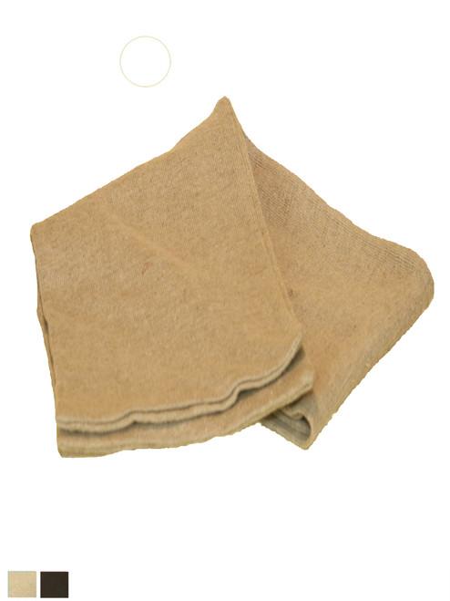 Knitted Hemp & Flax Scarf