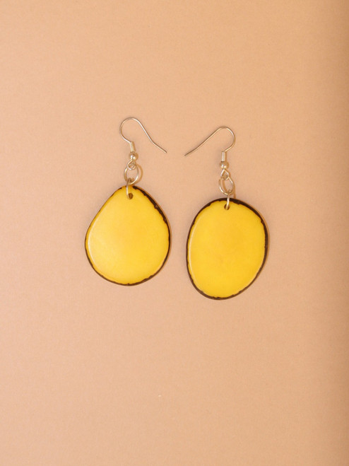 Piña Slice Tagua Dangle Earrings