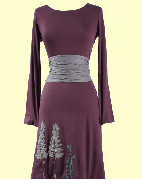 Fern Kimono Belted Dress - Organic Cotton