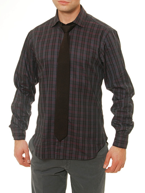 Bryce Brushed Plaid Pique Shirt