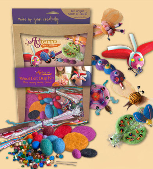 Wool Felt Bug Kit  - Recycled Materials