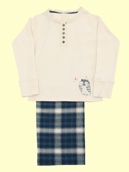 Owl Check Pajamas - Organic Cotton