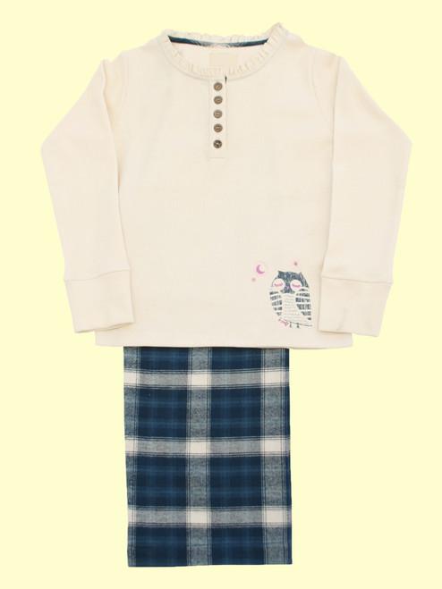 Owl Check Pajamas - Organic Cotton