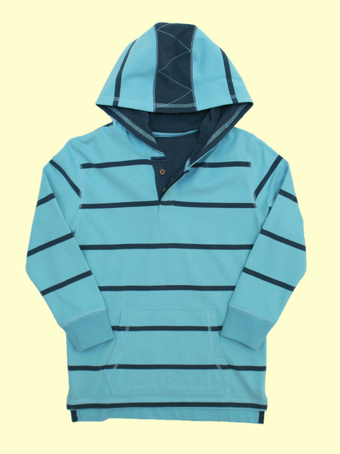 Wide Stripe Sailing Hoody - Organic Cotton
