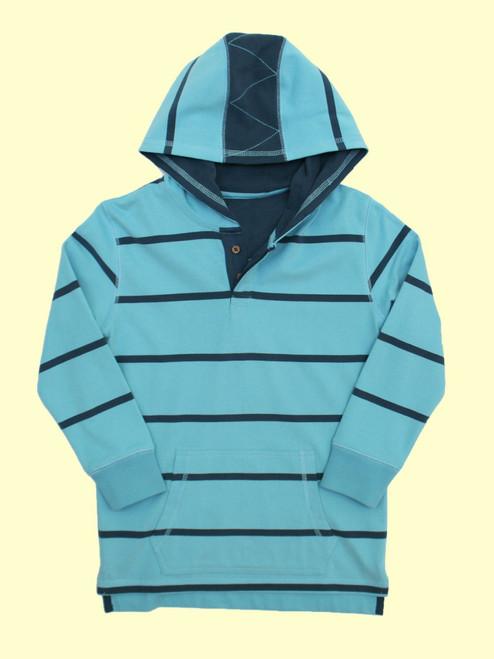Wide Stripe Sailing Hoody - Organic Cotton