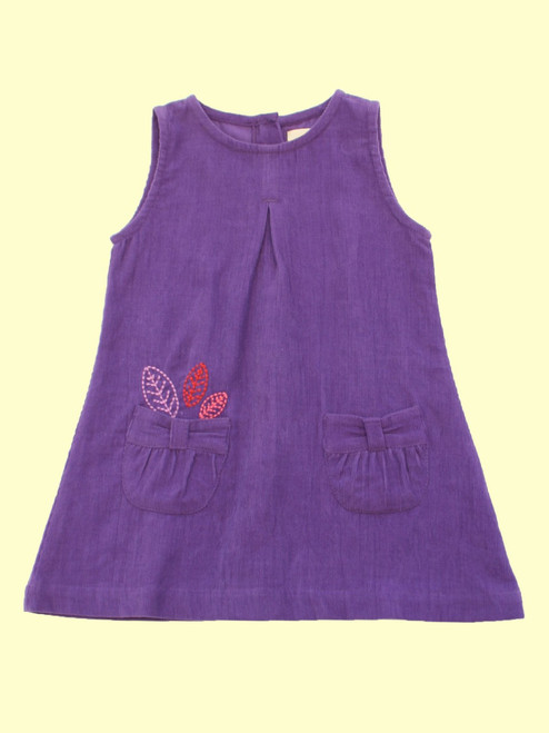 Cord Leaf Pinny  - Organic Cotton