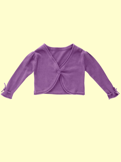 Knitted Grape Cardi- Organic Cotton