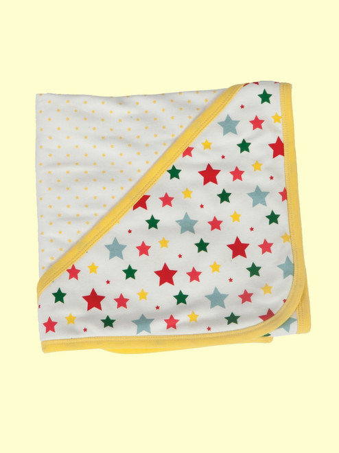 Multi-Star Reversible Hooded Blanket - Organic Cotton