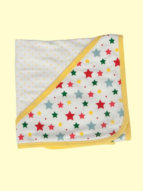 Multi-Star Reversible Hooded Blanket - Organic Cotton
