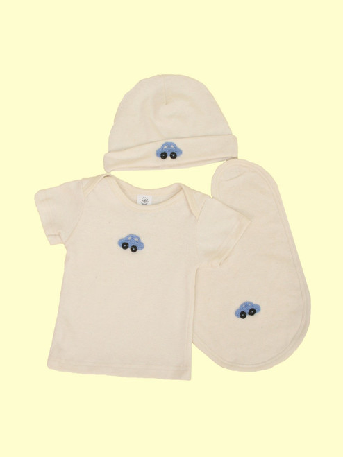 Layette Set, Car Design - Hemp & Organic Cotton
