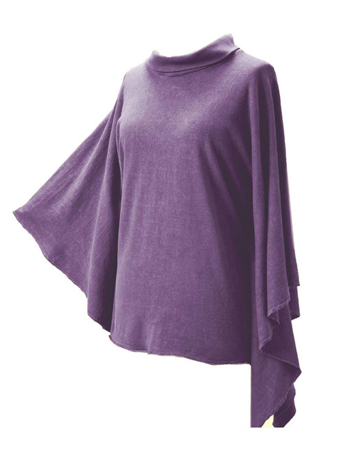 Purple Hemp Poncho-Hemp & Organic Cotton Jersey - Fair Trade