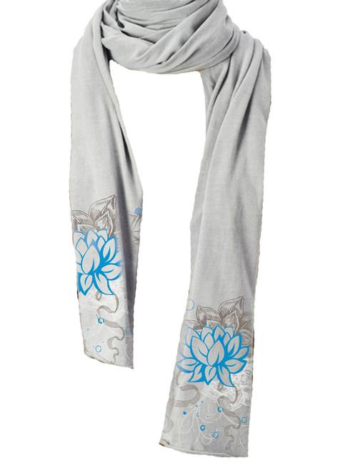 Blizzard Scarf Lotus Flower -  Organic Cotton Jersey