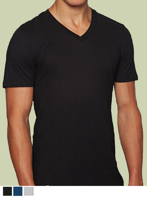 Men's V-Neck  Shirt - Organic Cotton & Recycled Polyester