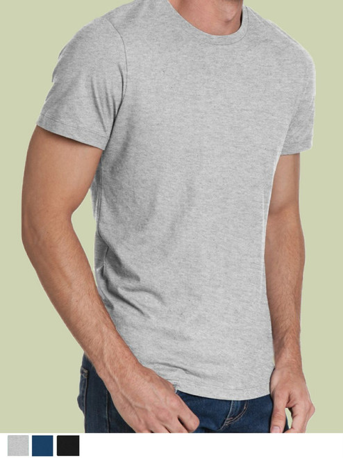 Men's Crew Neck Shirt -  Organic Cotton & Recycled Polyester