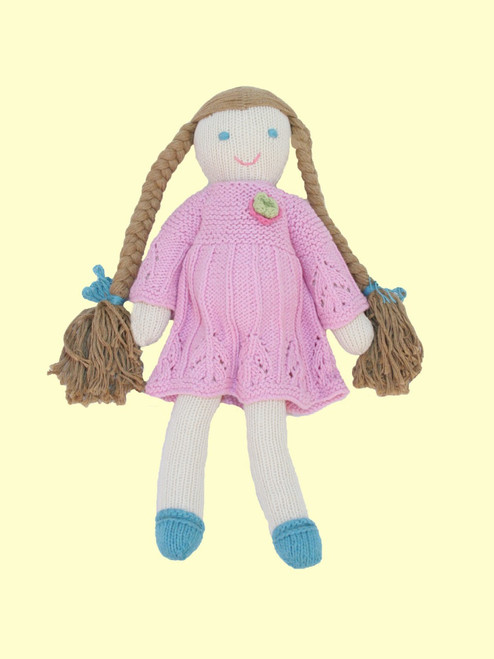 Sadie Doll - Hand Knit Organic Cotton