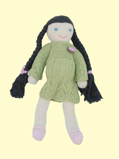 Ava Doll - Hand Knit Organic Cotton