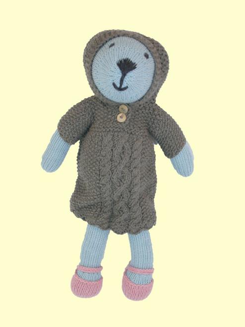 Alice Bear - Hand Knit Organic Cotton