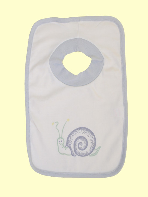 Blue Snail Bib - Organic Cotton
