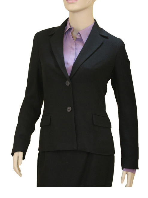 Blazer with Flap Pockets - 100% Handwoven Wool