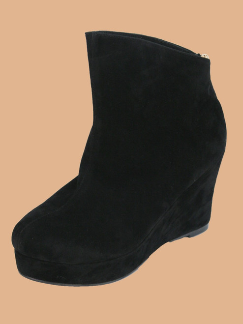 Scarlet Wedge Bootie - Eco-Friendly PU