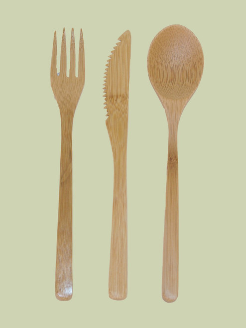 Bamboo Flatware - Set of 3