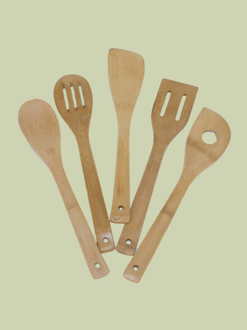 5 Piece Utensil Set - Bamboo