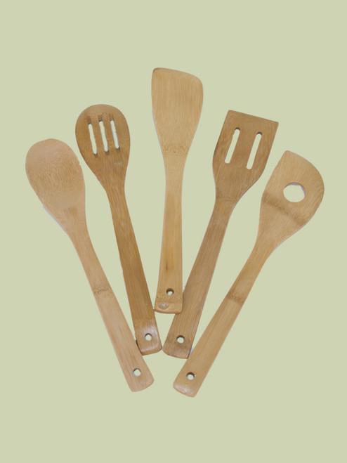 5 Piece Utensil Set - Bamboo