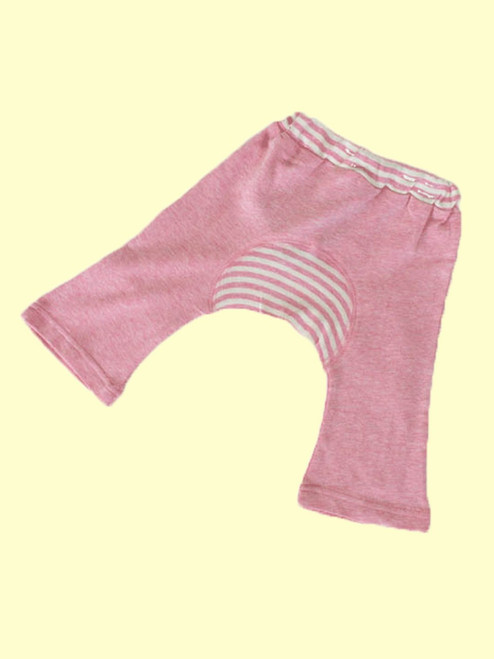 Organic Cotton Baby Girl Monkey Pants