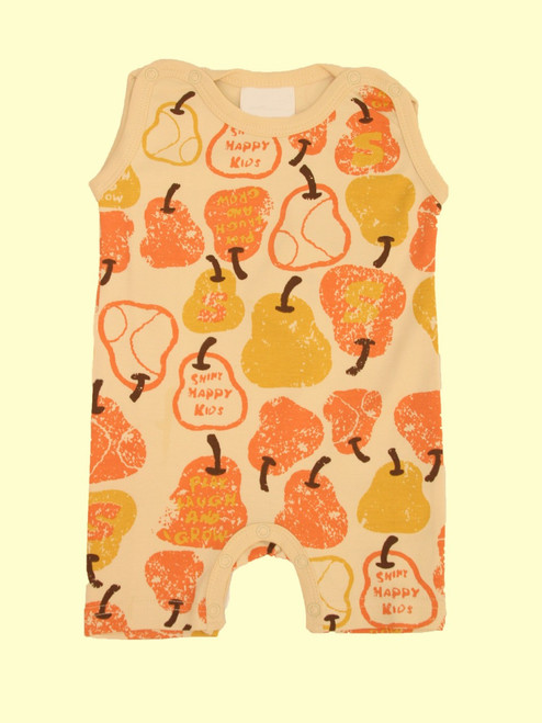 Organic Cotton Red Pear Romper