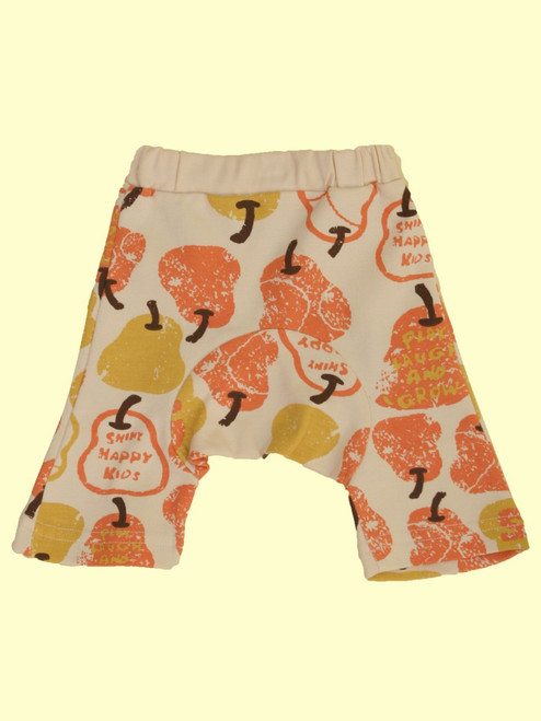 Organic Cotton Red Pear Monkey Pants