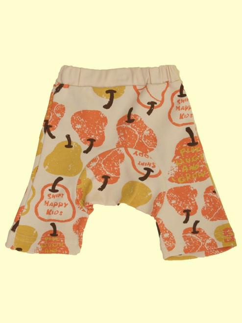Organic Cotton Red Pear Monkey Pants