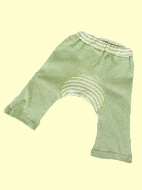 Organic Cotton Sage Baby Monkey Pants
