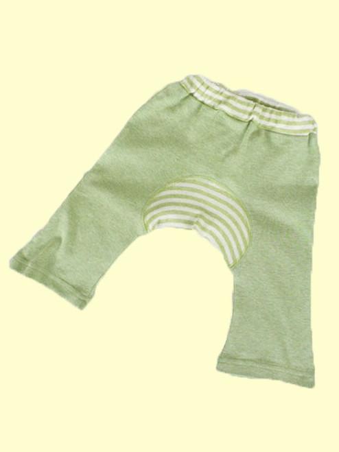 Organic Cotton Sage Baby Monkey Pants