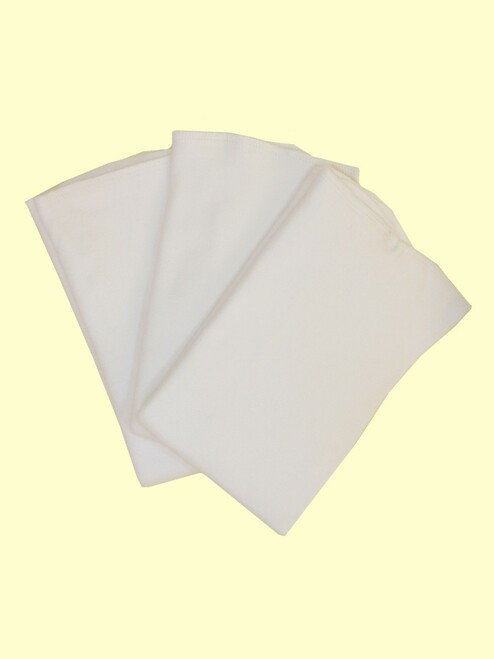 Organic Cotton Super Soft Baby Diaper Flat Liner - 3pk