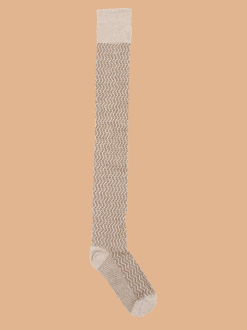 Diddley Light - Paired  Thigh High Socks - Recycled Fibers