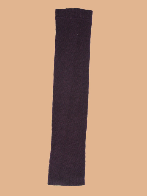 Solid Purple - Paired Arm Or Leg Warmers - Recycled Fibers